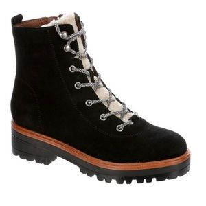 Marc Fisher Izma Lace-Up Hiker Booties Shoes